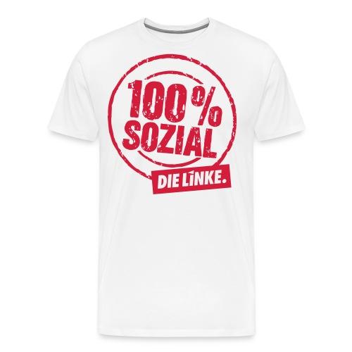 3 linkesx btw13 tshirts vorn rot hks 14 - Männer Premium T-Shirt