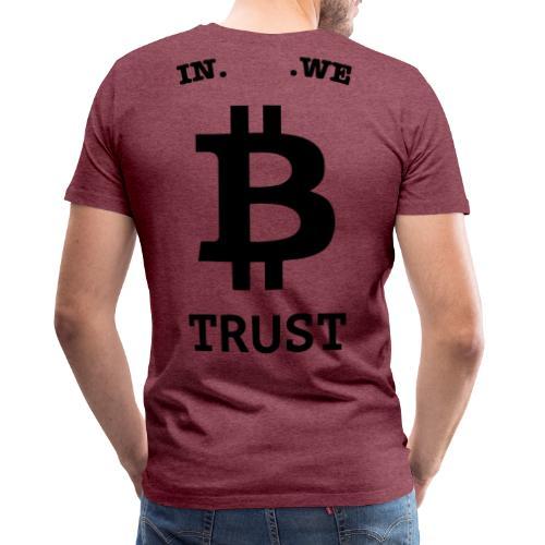 BITCOIN langwerpig - Mannen Premium T-shirt