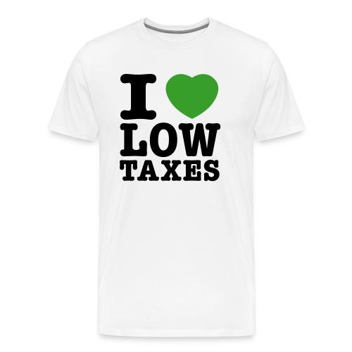 i love low taxes cmyk 2 spots 2 - Men's Premium T-Shirt
