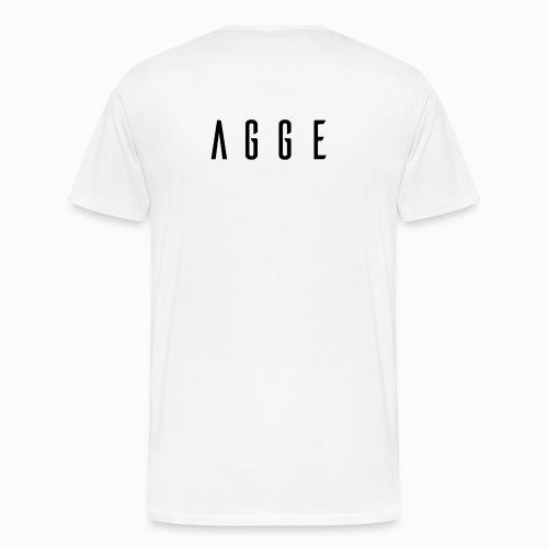 Agge - Svart logga   Bak - Premium-T-shirt herr