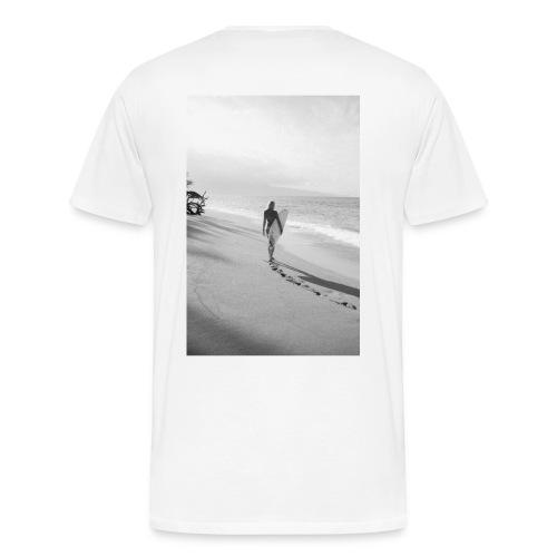 Surfgirl walking - Camiseta premium hombre