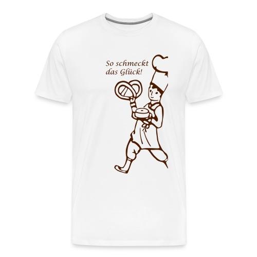Cafe Schober T Shirt Fron - Männer Premium T-Shirt