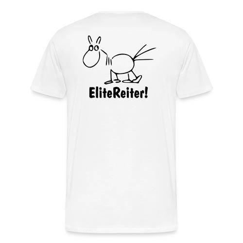 Bei X halten - EliteReiter! - Männer Premium T-Shirt