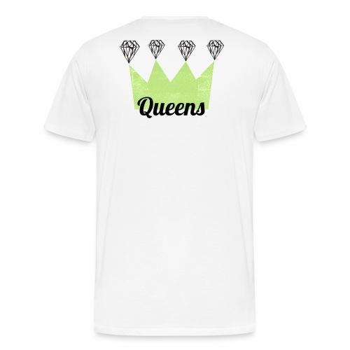 logo_queens_4_vihr_musta - Miesten premium t-paita