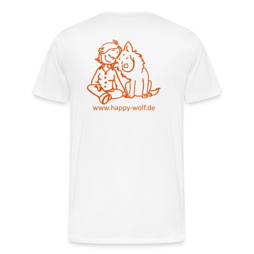 happywolforangetransparent - Männer Premium T-Shirt