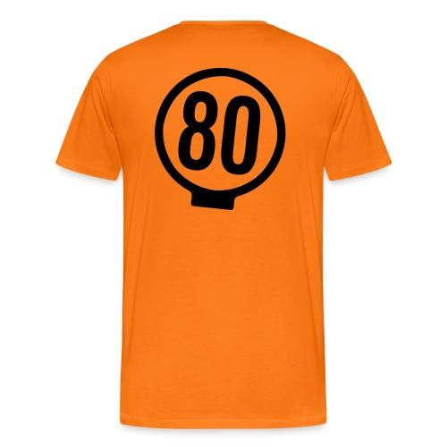 80-lätkä - kasikympin lätkä - Miesten premium t-paita