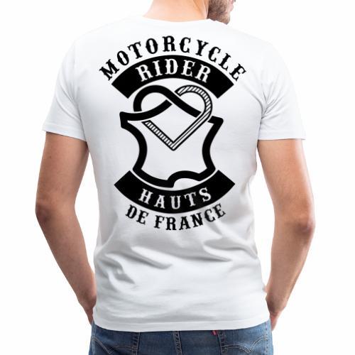 Motorcycle Rider Hauts-de-France 'Flag' - T-shirt Premium Homme