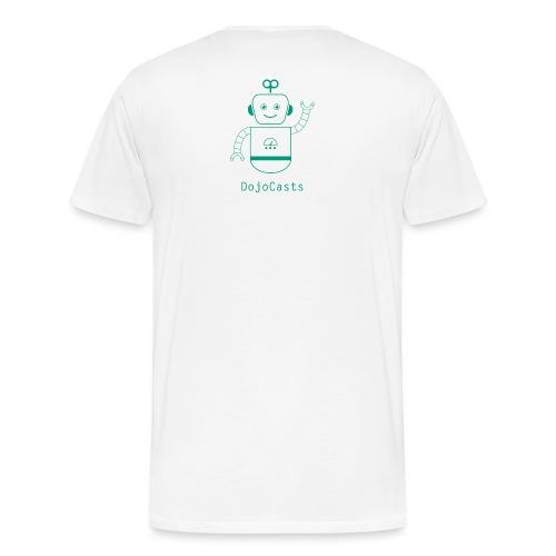 Blanc avec logo dojo vert jette - T-shirt Premium Homme