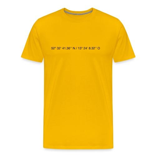 Koordinaten - black - Männer Premium T-Shirt