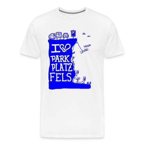 Parkplatzfels Tee Front - Männer Premium T-Shirt