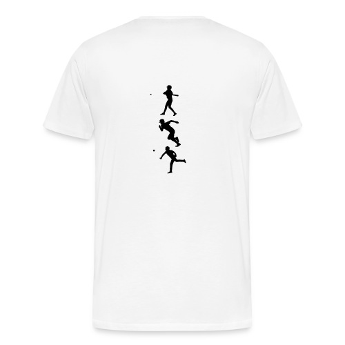 Hit Run Throw + Logo Arm - Männer Premium T-Shirt