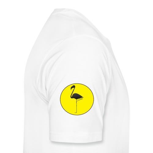 Silhouette Fenicottero - Maglietta Premium da uomo