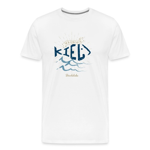 Mein Heimhathafen Kiel - Männer Premium T-Shirt