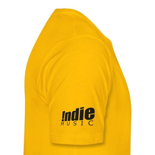 Indie Music logo black - Men's Premium T-Shirt