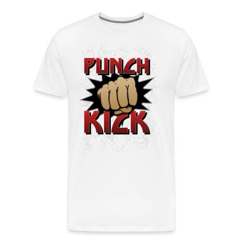 Punch Kick - Fist - Men's Premium T-Shirt