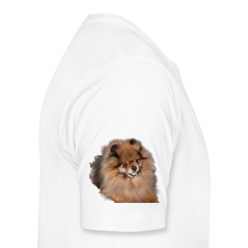 Pomeranian - Premium-T-shirt herr