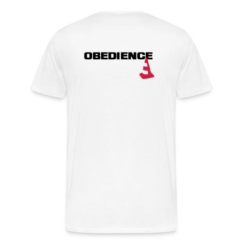 Obedience mit Pylone - Männer Premium T-Shirt