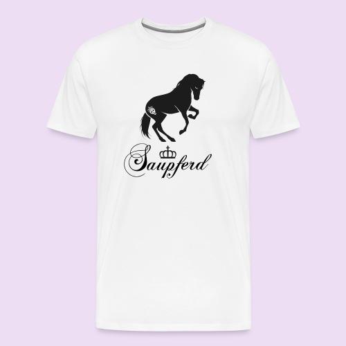 schriftzug_schwarz - Männer Premium T-Shirt
