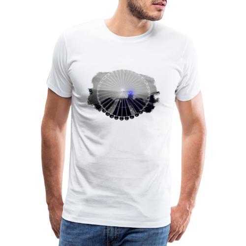 Ferris Wheel (grey/blue) - Herre premium T-shirt