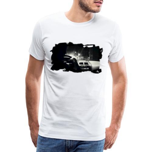 PS-001 Driving at Night (Blck PS logo on shoulder) - Herre premium T-shirt