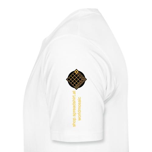 TIAN GREEN Welt Mosaik Shirt - Logo 2020 - Männer Premium T-Shirt