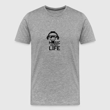 Gafas de sol para auriculares música es mi vida - Camiseta premium hombre