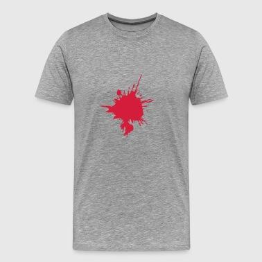 Blodfläck droppe KLEX färg design - Premium-T-shirt herr