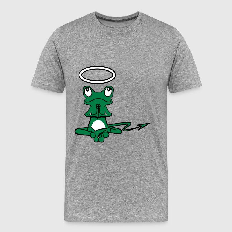 Cola de rana Angel Diablo Diablo Halo - Camiseta premium hombre