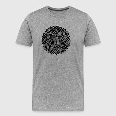 Fibonacci Spiral, Sunflower Seed, Mathematics, Phi - Koszulka męska Premium