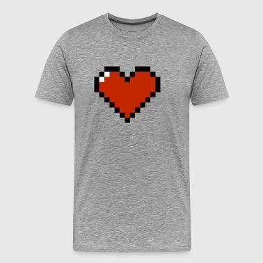 8 Bit Serce - Koszulka męska Premium