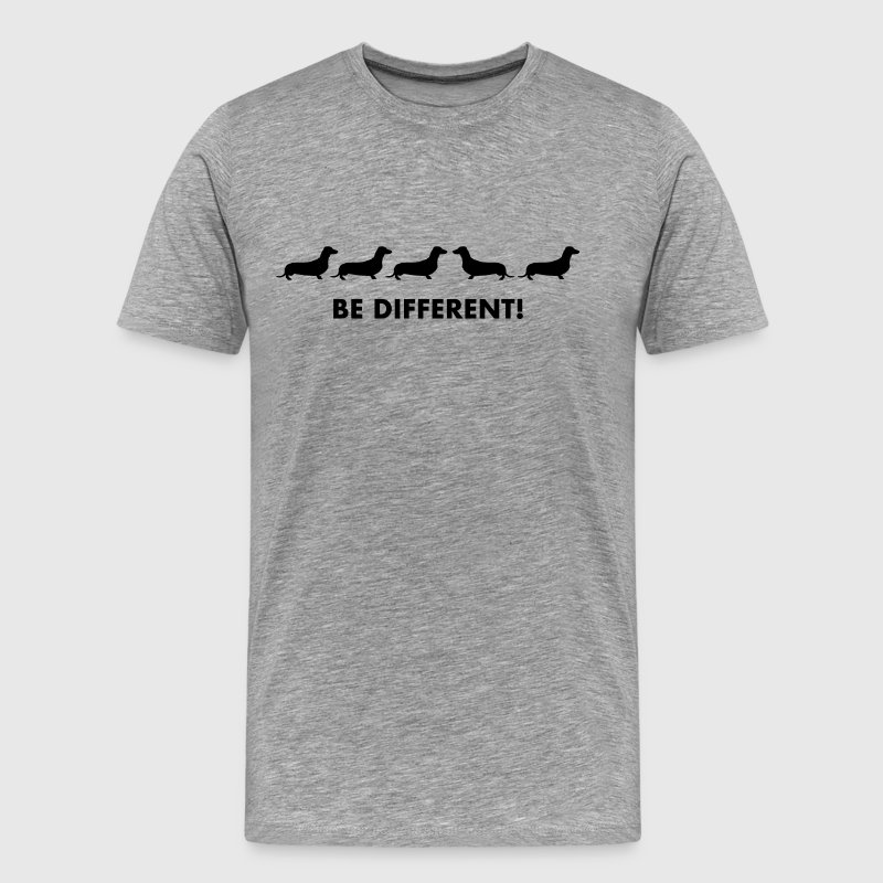 Dackel - Be Different - Men's Premium T-Shirt