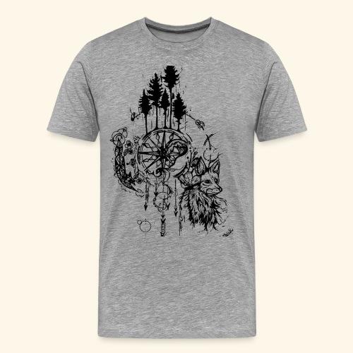 renard nature - T-shirt Premium Homme