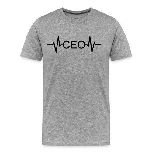 Herzschlag CEO - Heartbeat Chef EKG - Unternehmer - Männer Premium T-Shirt