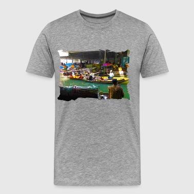 drijvende markt - Mannen Premium T-shirt