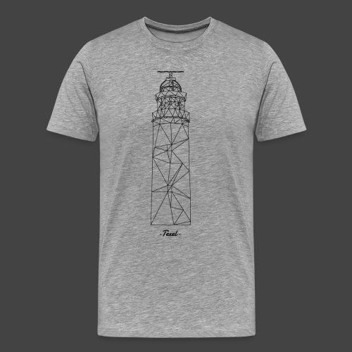 Texel Design Zwart - Mannen Premium T-shirt