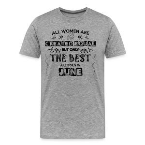 Woman Birthday June - Men's Premium T-Shirt