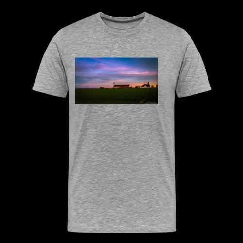 Kirche im Sonnenuntergang - Männer Premium T-Shirt
