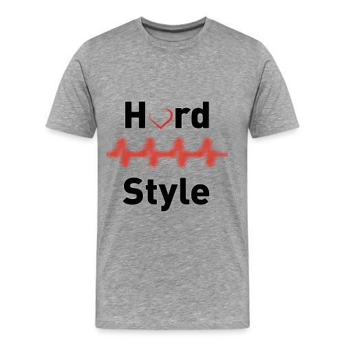 Hardstyle Heartbeat black - Männer Premium T-Shirt