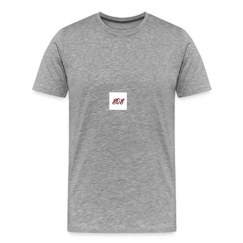 808 red on white box logo - Men's Premium T-Shirt