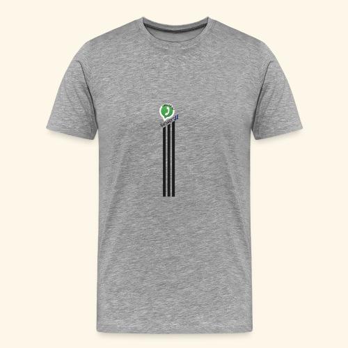 logo strepen - Mannen Premium T-shirt