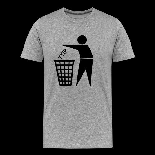 TTIP in die Tonne - Männer Premium T-Shirt