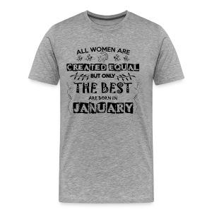 Woman Birthday January - Men's Premium T-Shirt