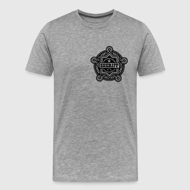 Sheriff tai Marshall Badge - Miesten premium t-paita