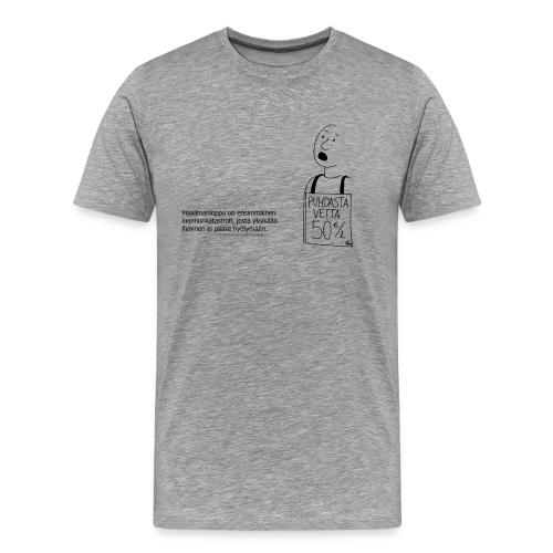 Aforismi maailmanloppu - Miesten premium t-paita