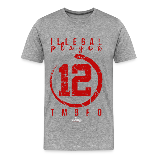 Illegal Player: 12 red - Maglietta Premium da uomo