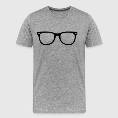 lentilles de Hipster - T-shirt Premium Homme