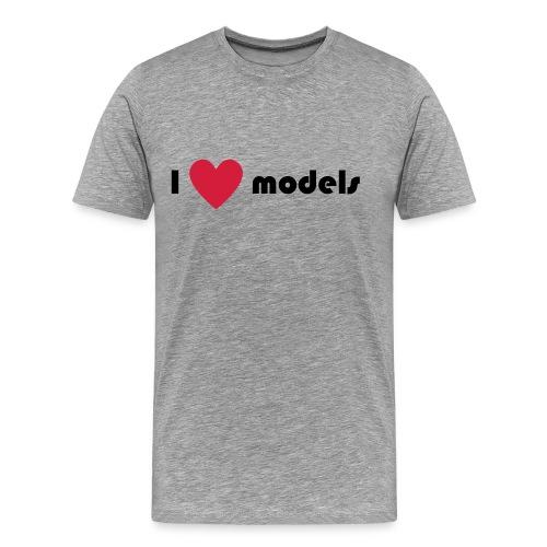 I love models - Mannen Premium T-shirt
