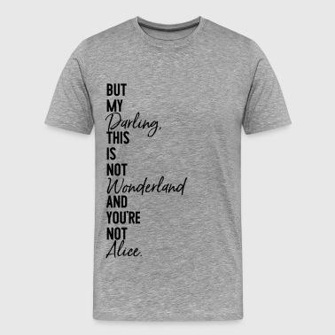 alice underland - Premium-T-shirt herr