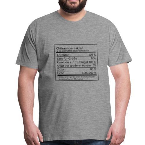 Chihuahua Fakten - Männer Premium T-Shirt