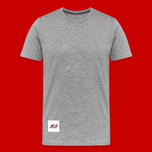 red on white 808 box logo - Men's Premium T-Shirt